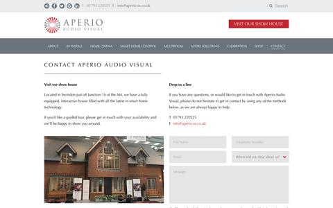 Screenshot of Contact Page aperio-av.co.uk - Contact Aperio Audio Visual - captured Oct. 3, 2018