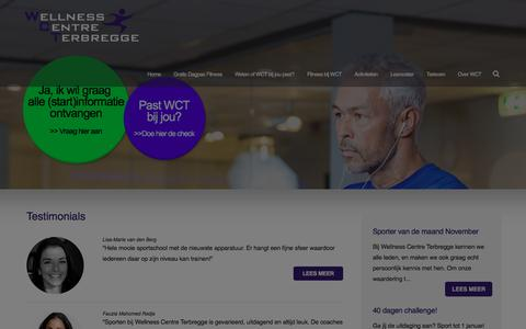 Screenshot of Testimonials Page wct.nl - Wellness Centre Terbregge - Get Wellness - Testimonials - captured Nov. 29, 2016