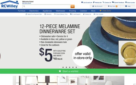 Screenshot of Home Page rcwilley.com - RC Willey - Furniture, Electronics, Appliances, Mattresses, Flooring - captured June 21, 2017