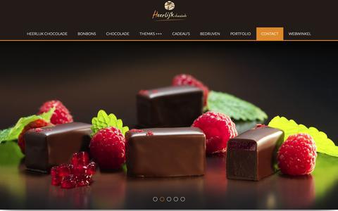 Screenshot of Contact Page heerlijkchocolade.nl - Contact - Heerlijk chocolade - captured Oct. 23, 2018