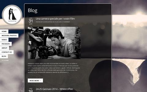 Screenshot of Blog whitecoffee.it - Blog ‹ Whitecoffee - captured Oct. 26, 2014