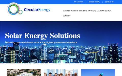 Screenshot of Home Page circularenergy.com - Home | Circular Energy - captured July 4, 2016