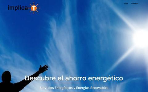Screenshot of Home Page implica-t.com - My front page - Implica-T Desarrollo Sostenible - captured Dec. 19, 2015