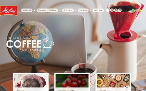 Screenshot of Home Page melitta.com.br - Melitta® - The maximum coffee enjoyment - captured Oct. 18, 2017