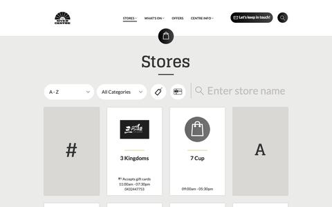 Screenshot of Services Page themyercentre.com.au - Stores - The Myer Centre Brisbane - captured Oct. 30, 2018
