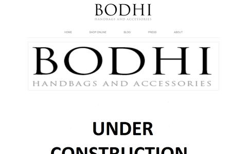 Screenshot of Home Page bodhibags.net - BODHI Handbags and Accessories - captured Feb. 7, 2016