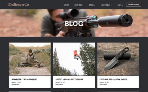 Screenshot of Blog silencerco.com - SilencerCo Blog | Gun Suppressor Blog | SilencerCo - captured March 1, 2017
