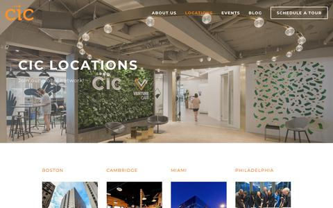 Screenshot of Locations Page cic.com - All Locations — CIC - captured Nov. 24, 2017