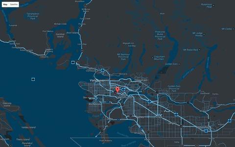 Screenshot of Maps & Directions Page b3com.com - B3 Communications - Where we are. - captured Nov. 13, 2016