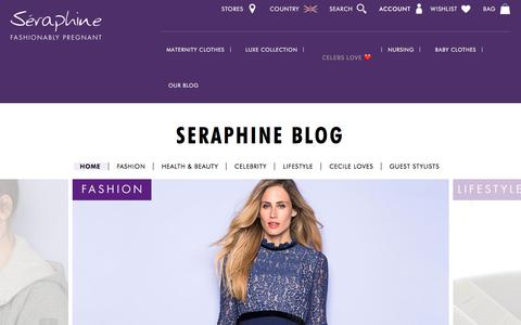 Screenshot of Blog seraphine.com - Seraphine Life Home Page - Maternity Fashion Blog | Seraphine - captured Sept. 20, 2018