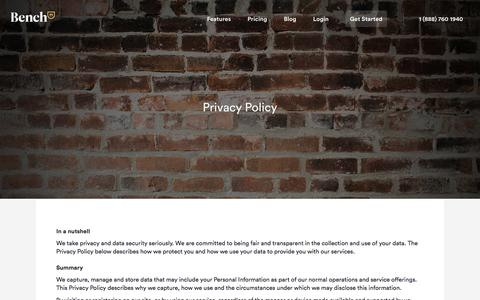 Bench — Privacy Policy