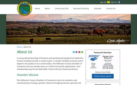 Screenshot of About Page stillwatercountychamber.com - About Us | Stillwater Chamber of Commerce - captured Nov. 4, 2014