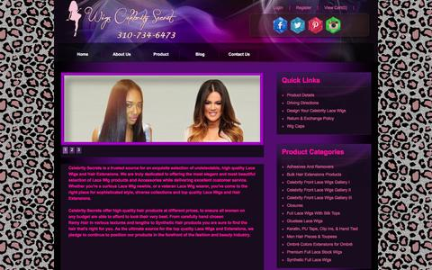 Screenshot of About Page wigscelebritysecret.com - weaves, Celebrity Secrets Las Vegas, CA About Us - captured Feb. 4, 2016