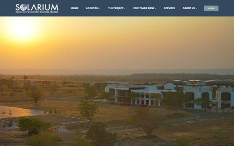 Screenshot of About Page Contact Page solariumcr.com - Solarium - Costa Rica's Brightest Business Address - captured Nov. 18, 2016