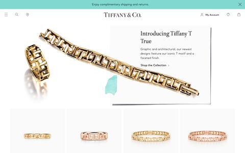 Screenshot of Home Page tiffany.com - Tiffany & Co. Official | Luxury Jewelry, Gifts & Accessories Since 1837 - captured March 21, 2019