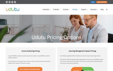 Screenshot of Pricing Page udutu.com - Start / Pricing - Udutu - captured Dec. 14, 2017