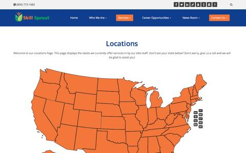 Screenshot of Locations Page skillsprout.com - Locations » Contact Us | Skill Sprout - captured Dec. 6, 2016