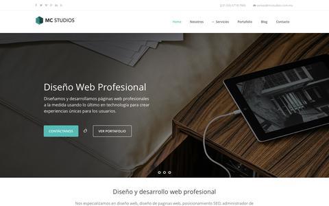 Screenshot of Home Page mcstudios.com.mx - Diseño web - Diseño de paginas web en México DF - captured Jan. 28, 2015