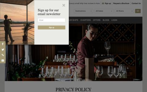 Screenshot of Privacy Page pandaw.com - Privacy Policy   Pandaw.com - captured Nov. 9, 2018