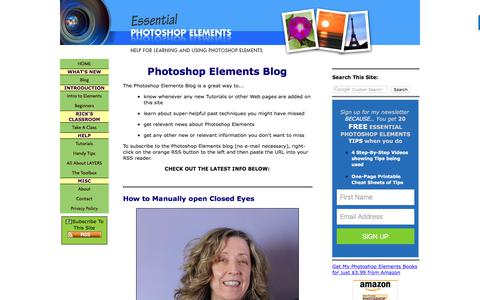 Screenshot of Blog essential-photoshop-elements.com - Photoshop Elements Blog - captured Sept. 23, 2018