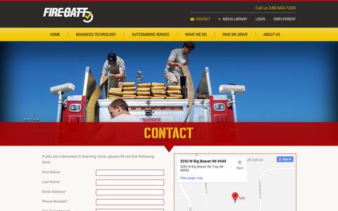 Screenshot of Contact Page firecatt.com - FireCatt - Contact - captured Aug. 9, 2018