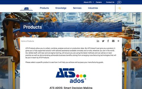 Screenshot of Products Page ats-global.com - Products | ATS Global - captured Sept. 19, 2018