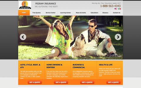 Screenshot of Maps & Directions Page pegramins.com - Auto, Motorcycle, ATV, Motorhome, Boat, Home, Renters, & Business Insurance . Agency Locations - captured Oct. 30, 2016