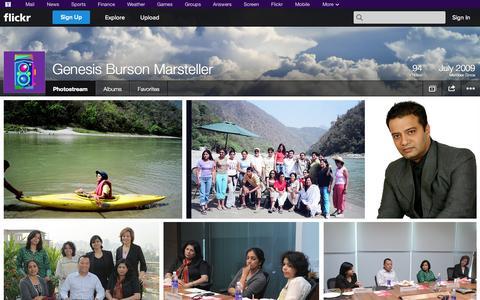 Screenshot of Flickr Page flickr.com - Flickr: Genesis Burson Marsteller's Photostream - captured Oct. 22, 2014