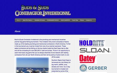 Screenshot of About Page fishbudsandsuds.com - About    fishbudsandsuds.com - captured Oct. 5, 2014