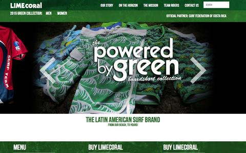 Screenshot of Home Page limecoral.com - LimeCoral Apparel Company - captured Jan. 29, 2016