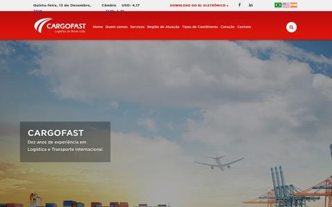 Screenshot of Home Page cargofast.com.br - Cargofast | Transporte Internacional e Logistica - captured Dec. 13, 2018