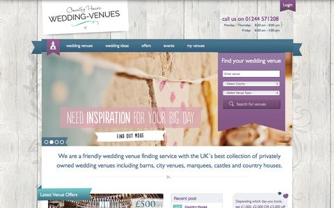 Screenshot of Home Page Maps & Directions Page wedding-venues.co.uk - Wedding Venues - Search for places to get married - captured Sept. 25, 2014