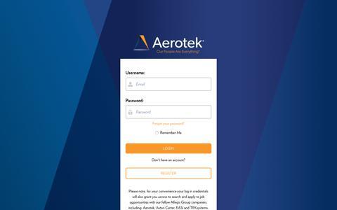 Screenshot of Login Page force.com - Aerotek Login Page - captured July 8, 2019