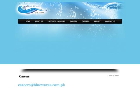 Screenshot of Jobs Page bluewaves.com.pk - Blue Waves - captured Sept. 30, 2014