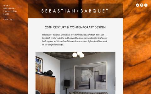 Screenshot of About Page sebastianbarquet.com - About — SEBASTIAN+BARQUET - captured Oct. 27, 2014
