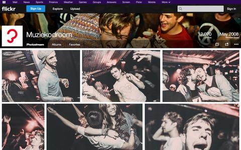 Screenshot of Flickr Page flickr.com - Flickr: Muziekodroom's Photostream - captured Oct. 26, 2014