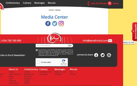 Screenshot of Press Page kenafricind.com - Kenafric - captured Oct. 15, 2018