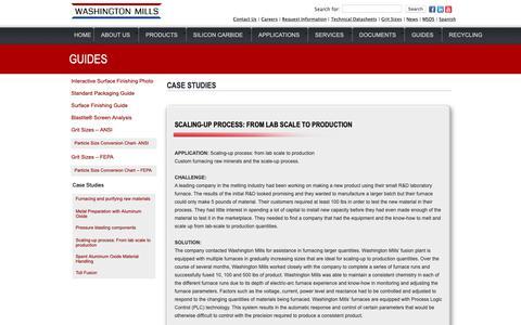 Screenshot of Case Studies Page washingtonmills.com - Case Studies - Washington Mills - captured Oct. 19, 2018