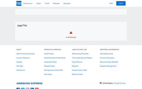 Screenshot of Contact Page americanexpress.com - American Express - Help - captured Nov. 20, 2018