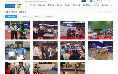 Screenshot of Press Page millennium-sports.com - Table Tennis   Millennium Sports - captured Oct. 7, 2014