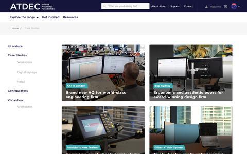 Screenshot of Case Studies Page atdec.com.au - Case Studies - captured Oct. 4, 2018