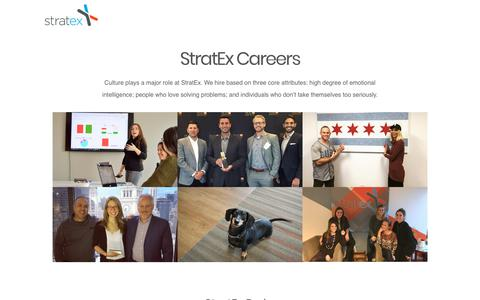 Screenshot of Jobs Page stratex.com - StratEx Careers — StratEx | Automate, Mitigate and Manage HR, payroll and employee benefits. - captured Aug. 23, 2017