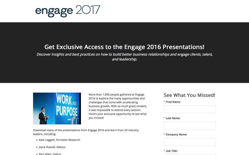 Engage 2016 Presentations
