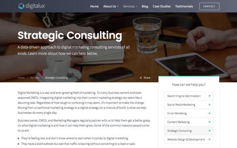 Strategic Marketing Consulting | Digitalux