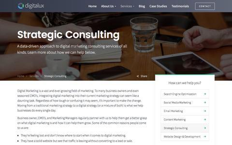 Strategic Marketing Consulting | Digitalux