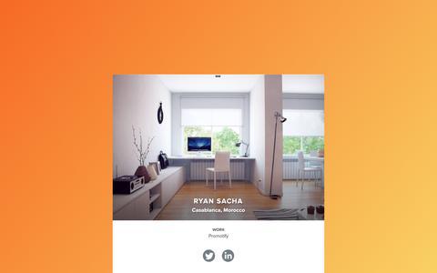 Screenshot of Home Page ryansacha.com - Ryan Sacha - captured March 23, 2016
