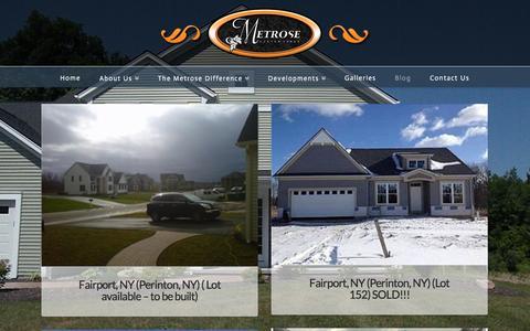 Screenshot of Blog metrosehomes.com - Blog - Metrose Homes - captured Feb. 13, 2016