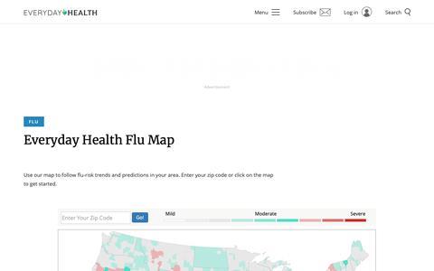 Screenshot of Maps & Directions Page everydayhealth.com - Flu Map | Everyday Health - captured Jan. 16, 2019