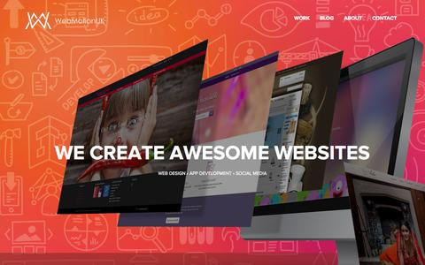 Screenshot of Home Page webmotionuk.com - Wordpress Web Design & Development London WebMotionUK - captured June 18, 2015