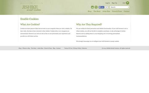 Screenshot of Signup Page jishikesocialcouture.com - Enable Cookies | Jishike Social Couture - captured Sept. 30, 2014